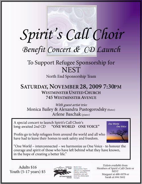 2009 NEST Benefit Concert & CD Launch