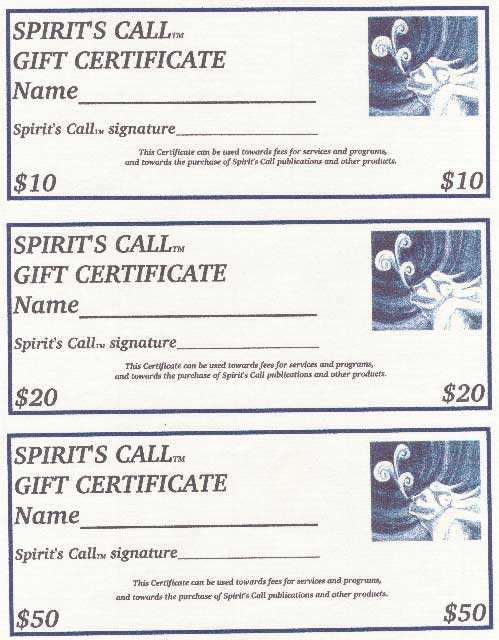 gift certificate denominations